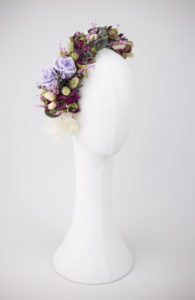 Media corona flor preservada