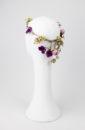 tocado de novia flores detallada
