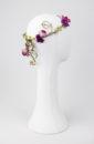 tocado para novia de flores