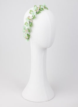 flores de porcelana tono mint