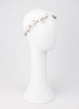 tiara flores porcelana novia