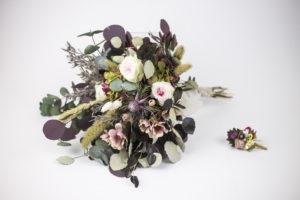 Ramo silvestre en flor preservada