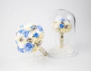 Replica de ramo de novia flore preservada