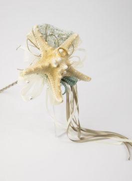 estrella de mar porta anillos
