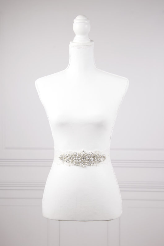 cinturón de novia con cristales