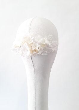 tocado de novia blanco