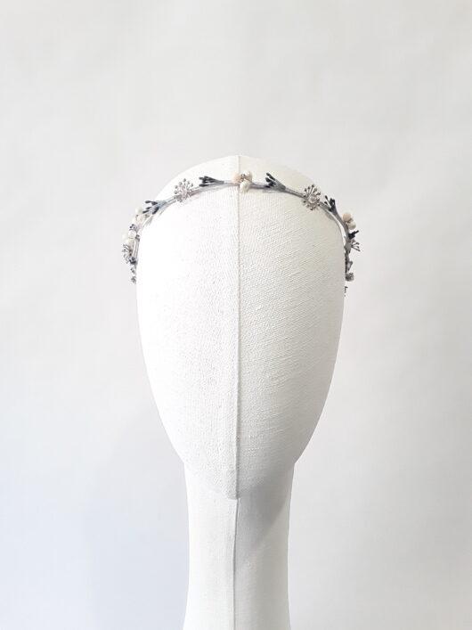 tiara novia metálica