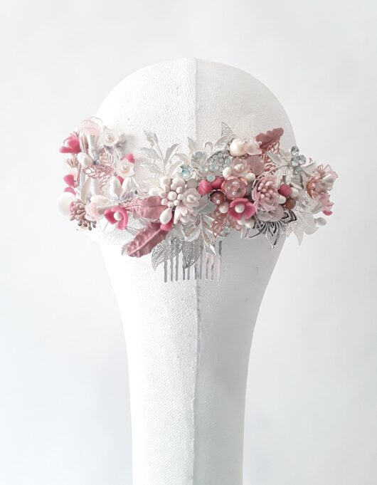 media corona de novia metalica