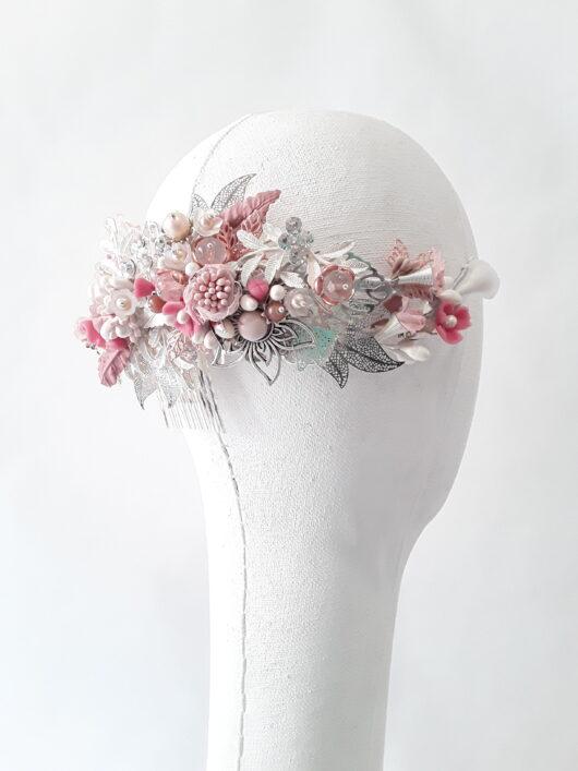 corona de novia con porcelana