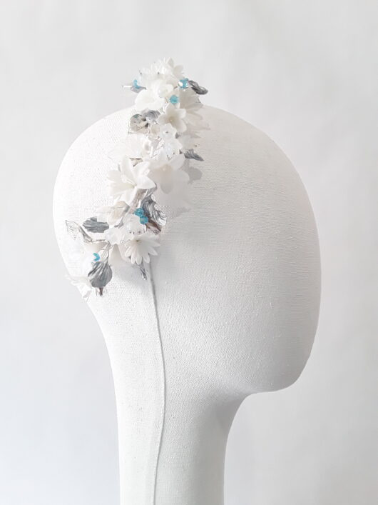 media corona flor acrilica