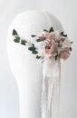 tocado de novia flor preservada