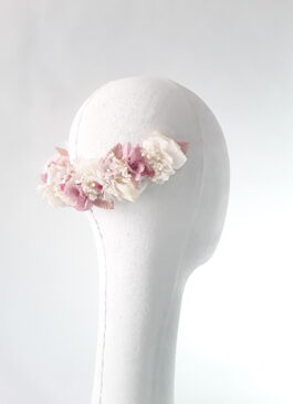 media corona en flor preservada