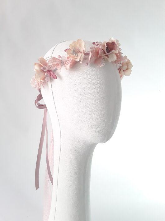 corona floral estilo vintage