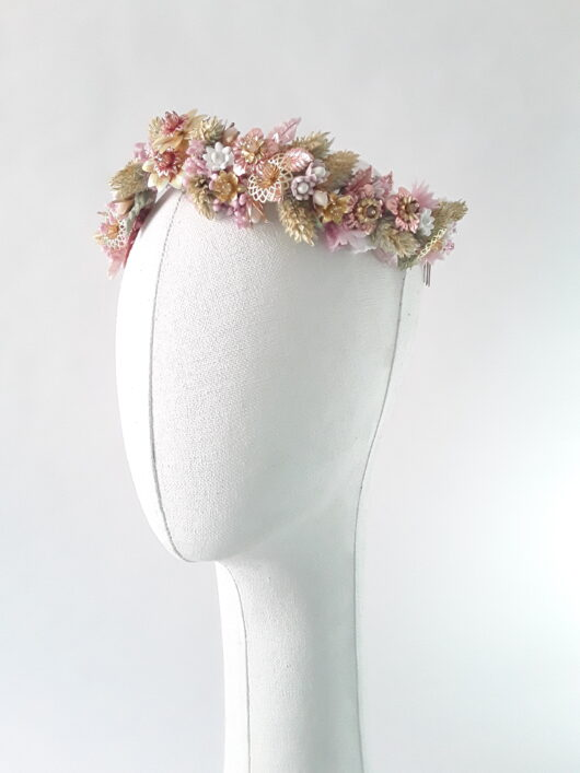 corona de flor preservada