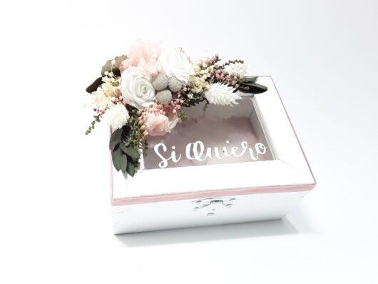 caja de arras rosa