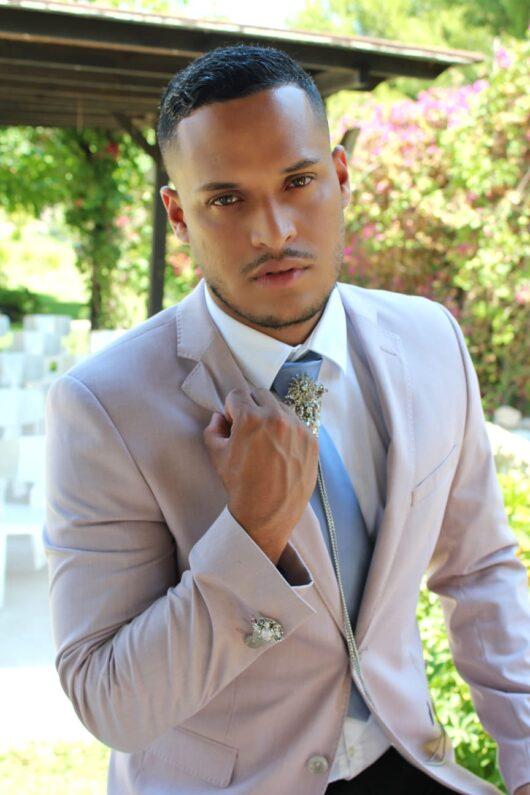 broche joya novio corbata
