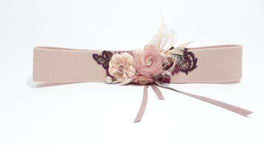 cinturón elástico palo rosa