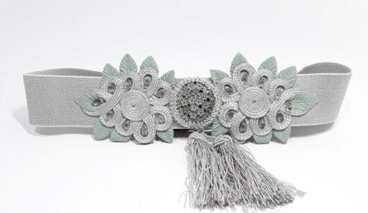 cinturón elástico plata invitada